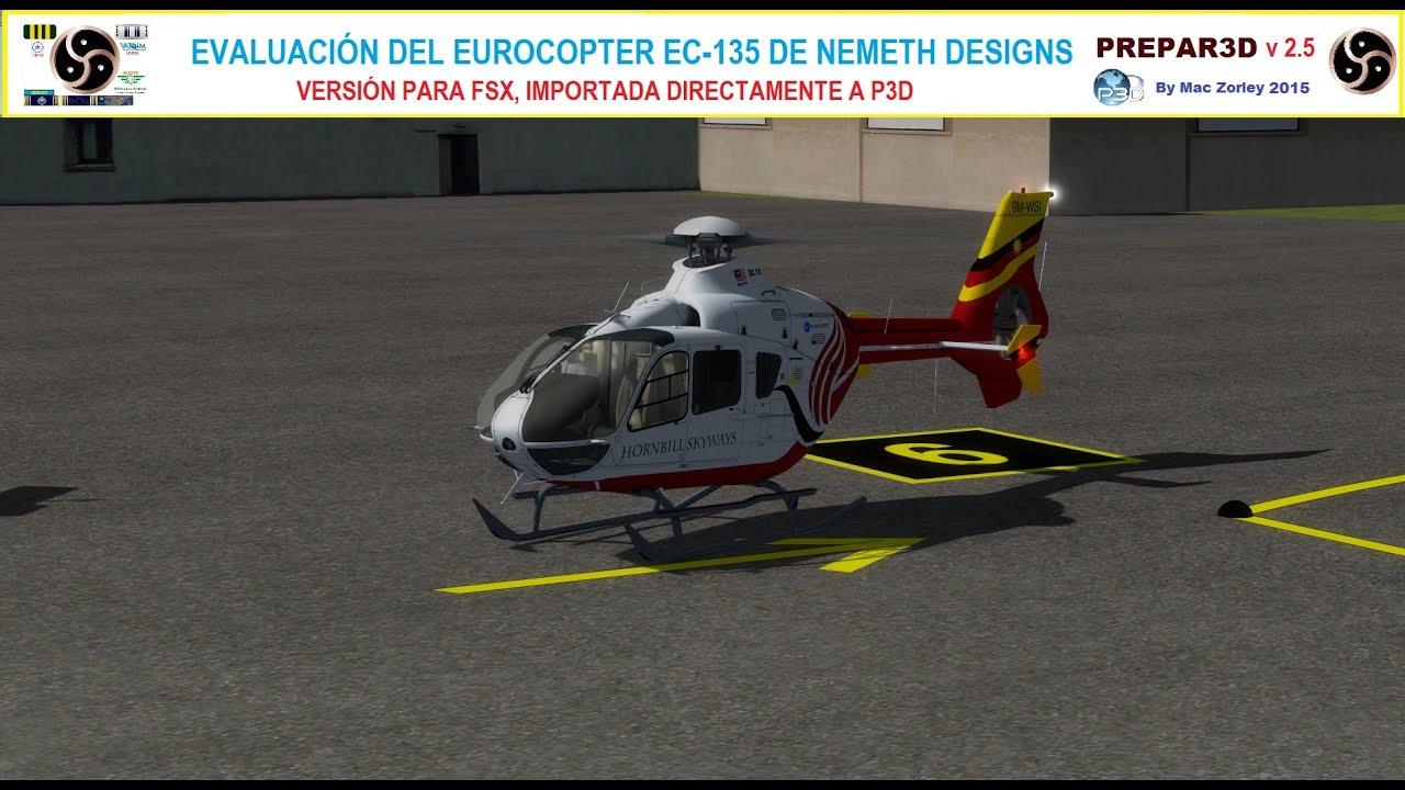 [P3D v2 5][Ultra Settings] Evaluando el Eurocopter EC-135