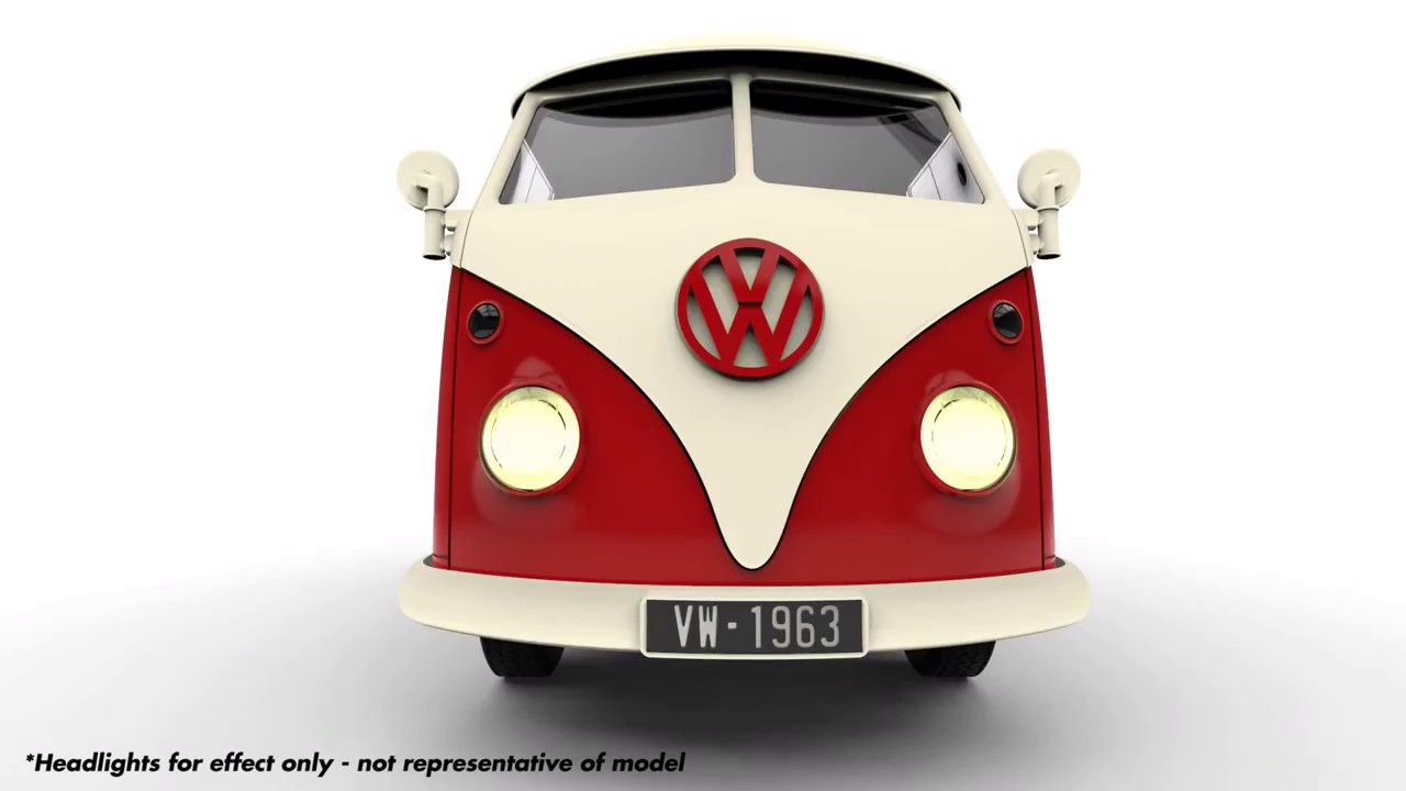 Airfix Quick Build Vw Camper Cad Render Animation