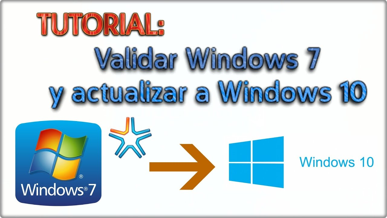 Xstg 10: COMO VALIDAR WINDOWS 7 Original Y ACTUALIZAR A WINDOWS 10