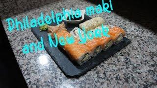 How to make Philadelphia Maki And New York maki Sushi Rolls