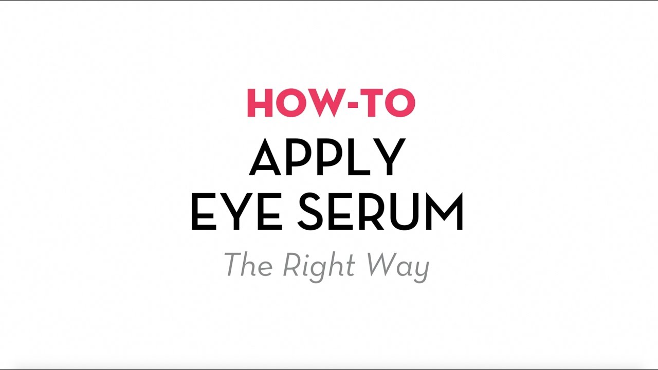 How To Apply Eye Serum The Right Way | Sonage Skincare