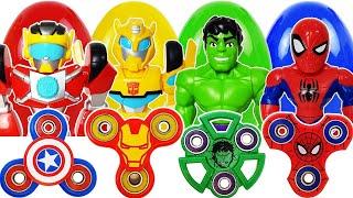 Avengers & Fidget Spinner Go~! Hulk, Spider-Man, Iron Man, Captain America