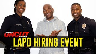 LAPD Host Hiring Event in Los Angeles & Talk Bettering Our Communities