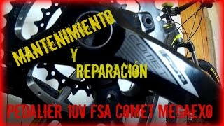 Reparar Pedalier FSA Comet MegaExo, Mantenimiento, arandela, y engrase.