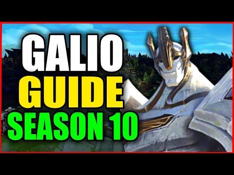 How to Play GALIO for BEGINNERS (Best Build, Runes, Season 10) S10 Galio Gameplay Guide