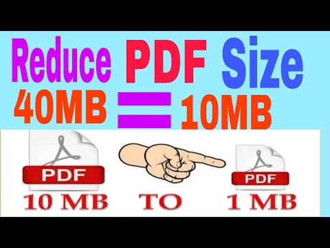 How To Reduce PDF File Size  40MB=10Mb Without Losing Quality 2020