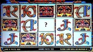 JACKPOT HANDPAY! Cleopatra Slot - High Limit $27 Max Bet!