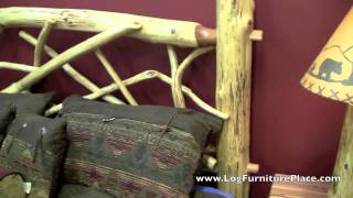 Red Cedar Wildwood Twig Log Bed From Logfurnitureplace.com