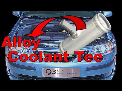 Saab 9-3 Coolant Tee Aluminium Replacement | Saab 9-3 Common problems