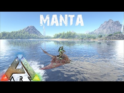 ARK Survival Evolved - Manta Taming and Speed Testing - New Fastest Water Dino?
