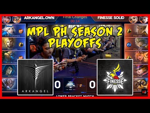 Si Dogie ang Caster! Double Wiped Out! ArkAngel Own vs Finesse Solid | MPL PH Season 2 Playoffs