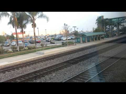Metrolink #706 train ride from LA Union Station to Fullerton Transportation Center