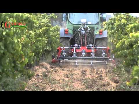 Cultivator vineyard with hydraulic interstocks
