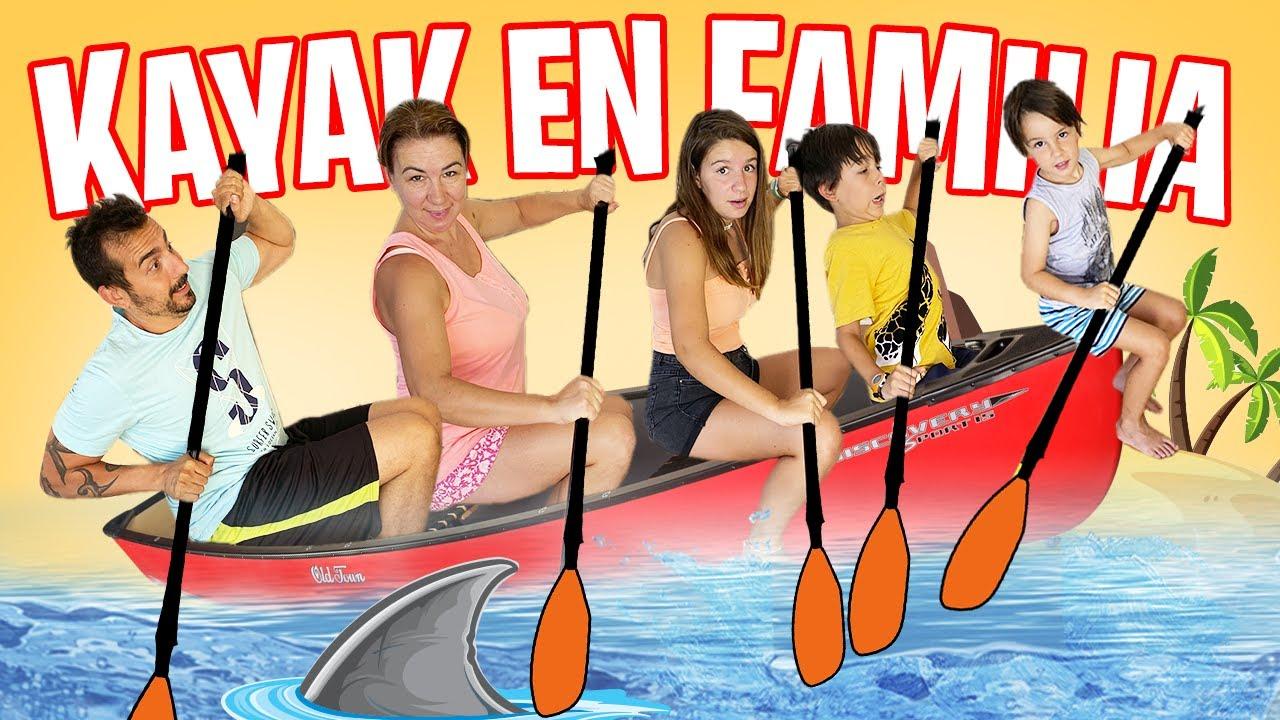 Hacemos KAYAK en FAMILIA con AMIGOS YOUTUBERS // Actividades para el VERANO