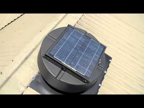Green Vent Solar Roof Ventilators Video
