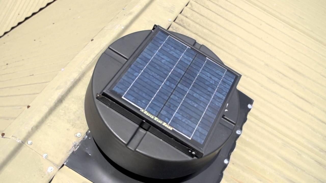 Nice Green Vent Solar Roof Ventilators Video