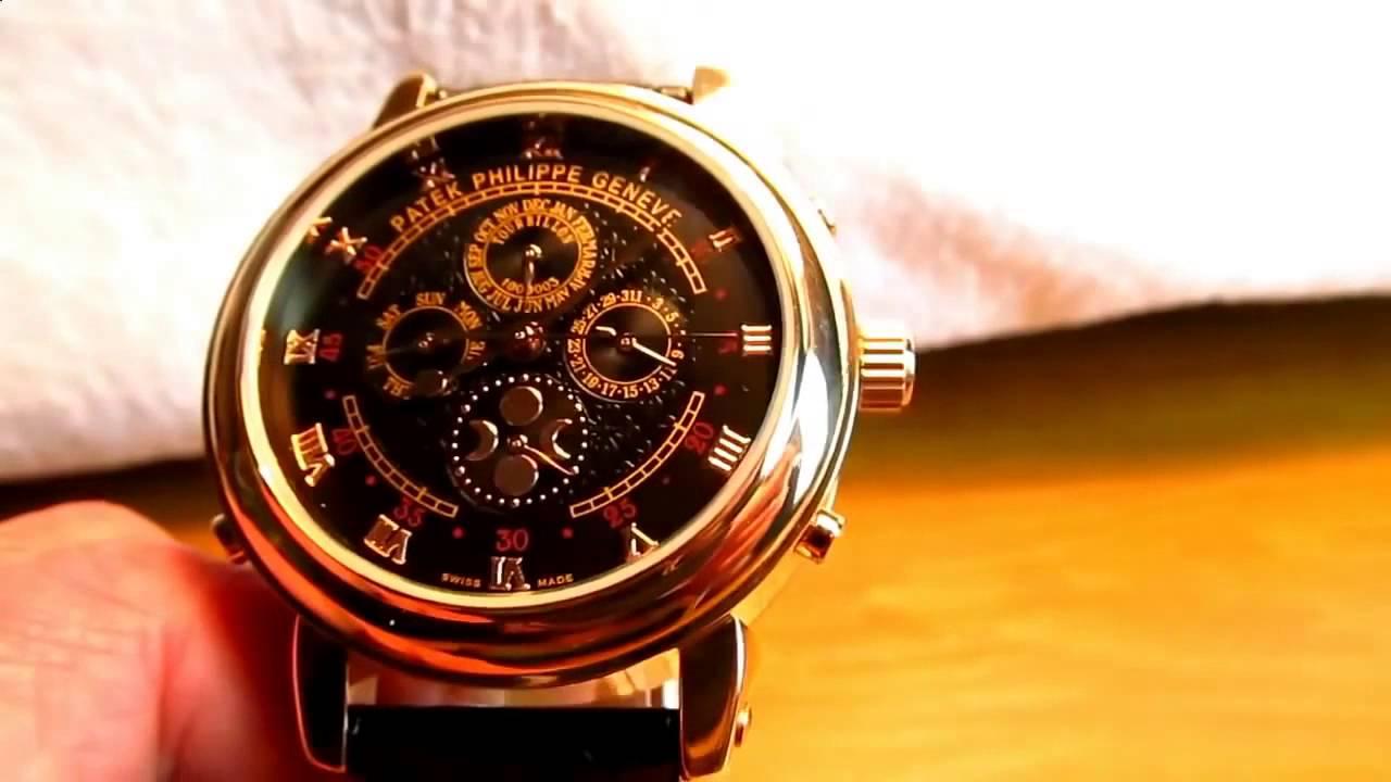 Часы Путина,копия часов Patek Philippe - YouTube