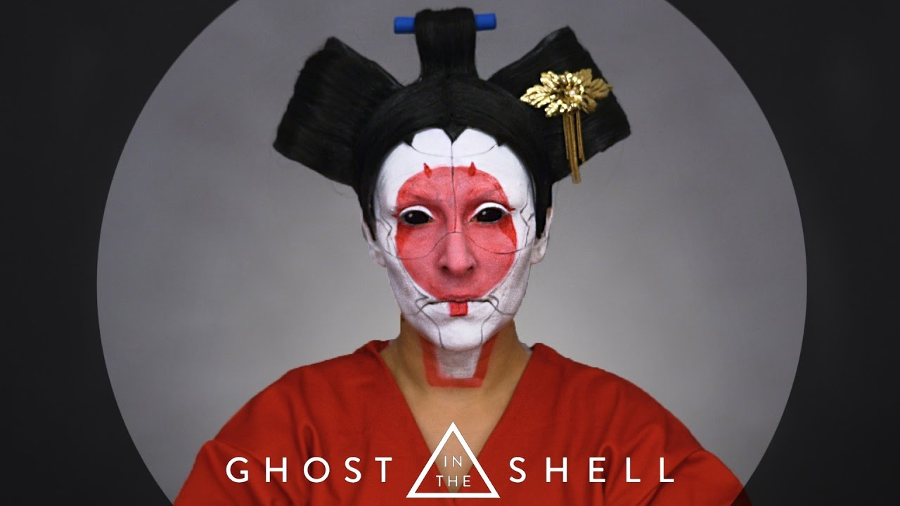 Ghost In The Shell Gejsza Make Up Tutorial Youtube