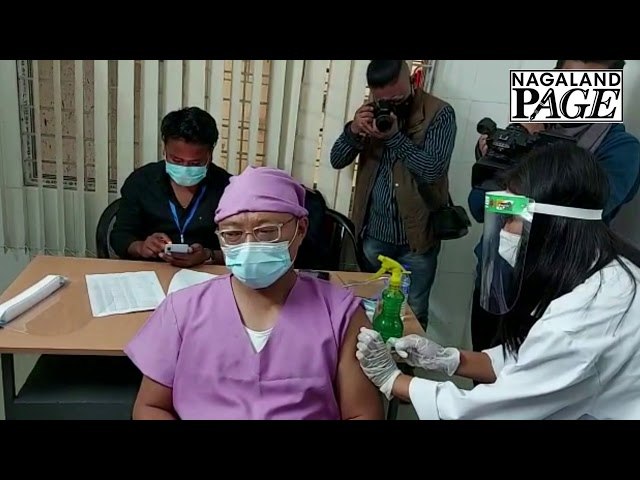Covid-19 vaccination started in Nagaland