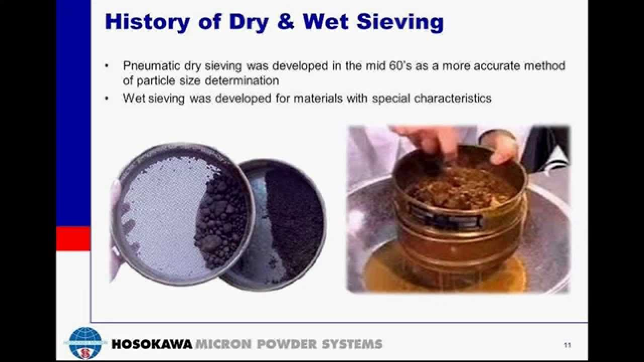 Particle Size Analysis with Dry & Wet Sieving