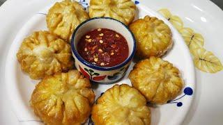 How to make paneer fried momos in Hindi