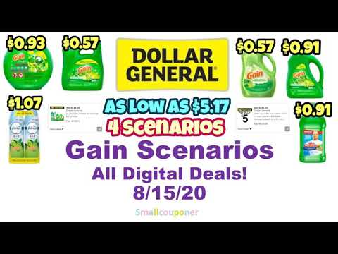 Dollar General Gain Scenarios 8/15/20! All Digital Deals!