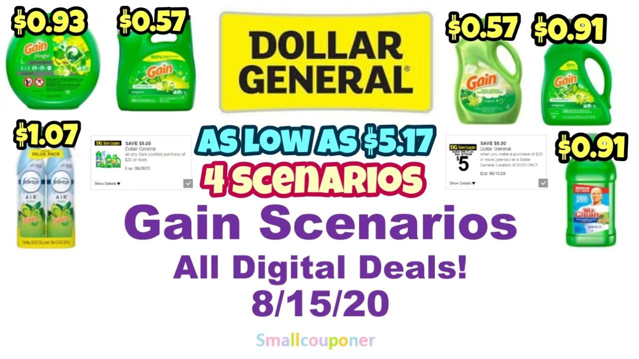 Dollar General Gain Scenarios 8 15 20 All Digital Deals Youtube