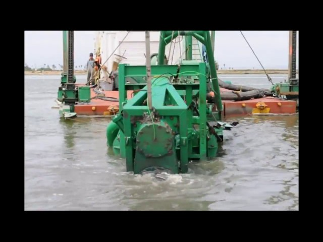 Environmental Dredge. 4-Spud Dredge by EDDY Pump
