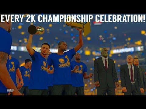 Every NBA Finals Championship Celebration (NBA 2K - NBA 2K18)