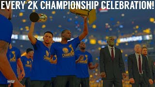 Every NBA Finals Championship Celebration (NBA 2K - NBA 2K18)