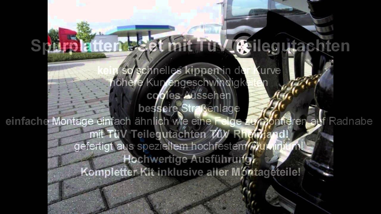 Spurverbreiterung Spurplatten Quad ATV - YouTube