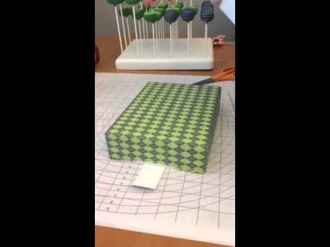 Customizing a BRP Box Shop Cake Pop Box
