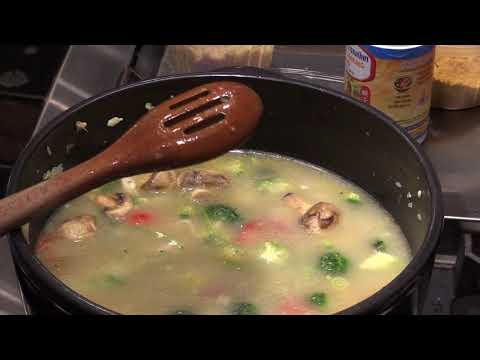 How To Cook Vegetables And Chicken Rice Soup...Curry Flavor!!!