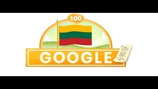 Lithuania Independence Day 2018 - Google Doodle
