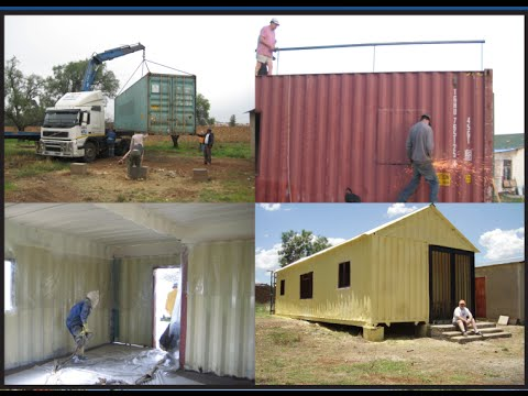 How to build your own 3 bedroom container house youtube First step to building a house