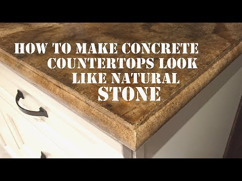 How to Make a Concrete Countertop Look like Natural Stone -