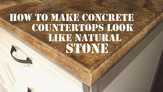 How to Make a Concrete Countertop Look like Natural Stone - Icoat Review