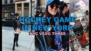 NYC VLOG 3 || Hockey Game in NEW YORK!