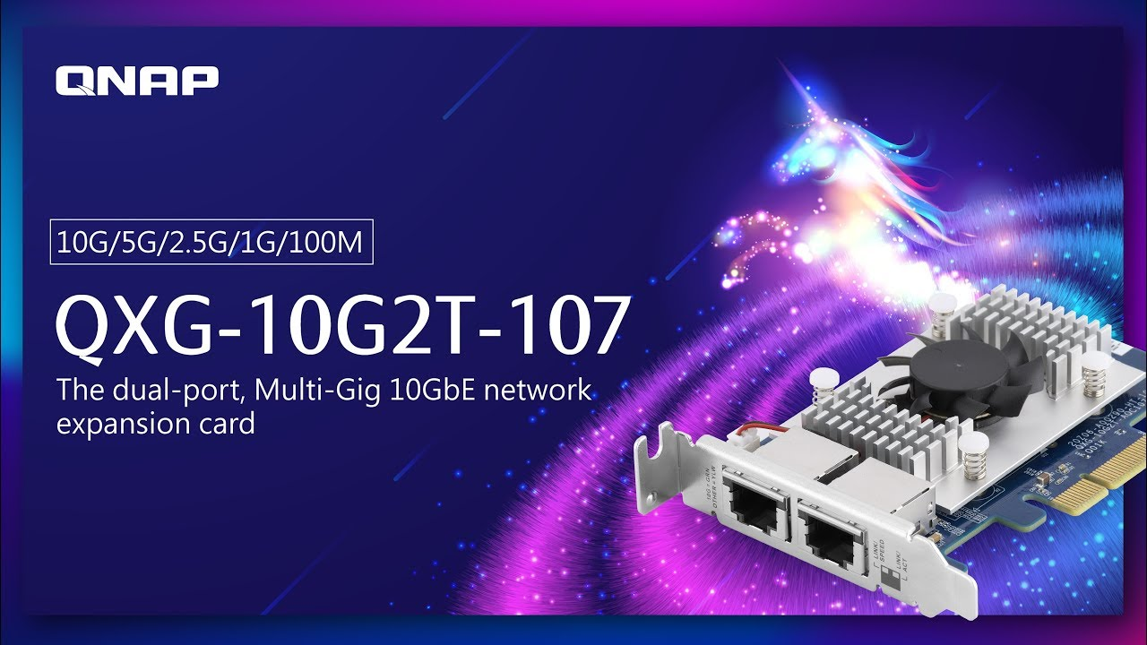 QXG-10G2T-107 launched: The dual-port, Multi-Gig 10GbE network expansion  card