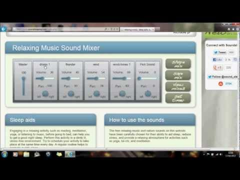 Howto help you sleep create your own relaxing sounds music : Ambient sound generator