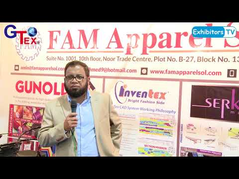 FAM Apparel Solutions at Gtex 2018 Textile Machine Brand Exhibition in Karachi Pakistan