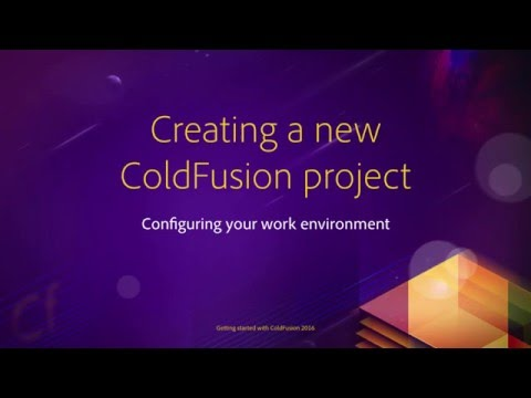 02 Configuring your work environment ## 06 Creating a new project in Coldfusion Builder