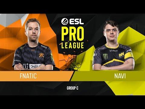 VOD: fnatic vs navi - ESL PRO LEAGUE - g3