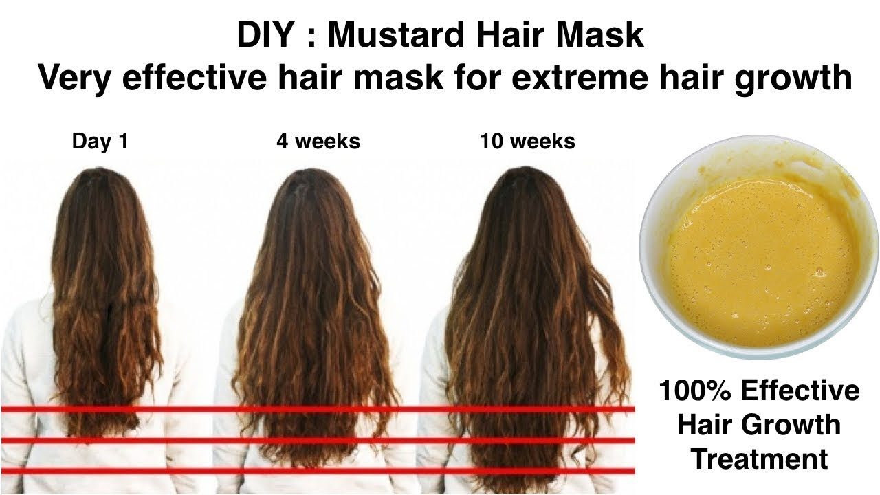 Extreme Hair Growth In Just 10 Weeks Diy Mustard Hair Mask