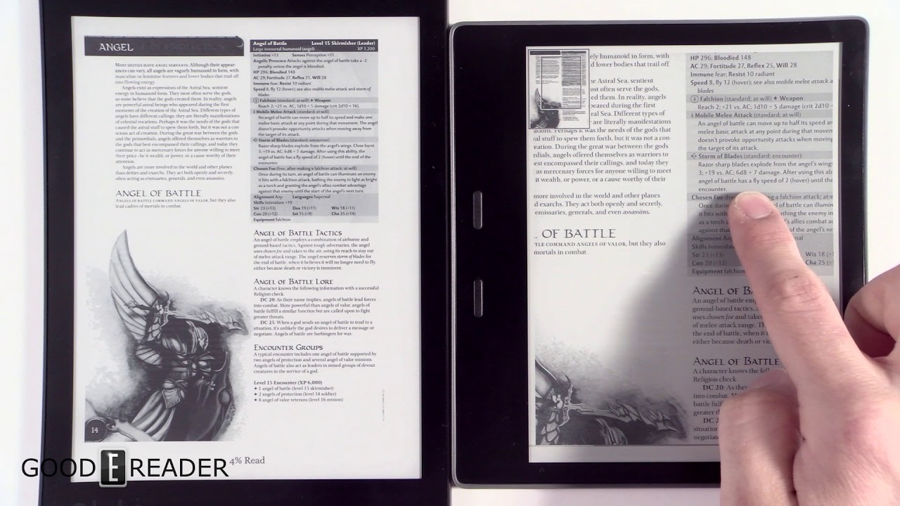 Amazon Kindle Oasis 2017 vs Kobo Aura One - PDF Experience