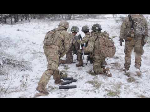 M224 Mortar Handheld Mode During Live Fire in Poland