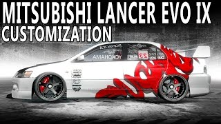NFS Pro Street - Mitsubishi Lancer Evo IX (Customization and Gameplay)