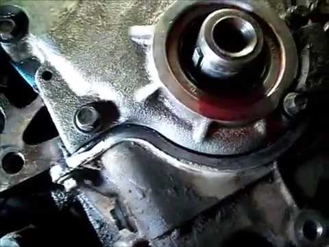 pt 2 02 pontiac montana 3 4 L timing cover replace - YouTube