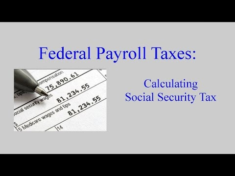 Payroll Tax:  Social Security Taxes