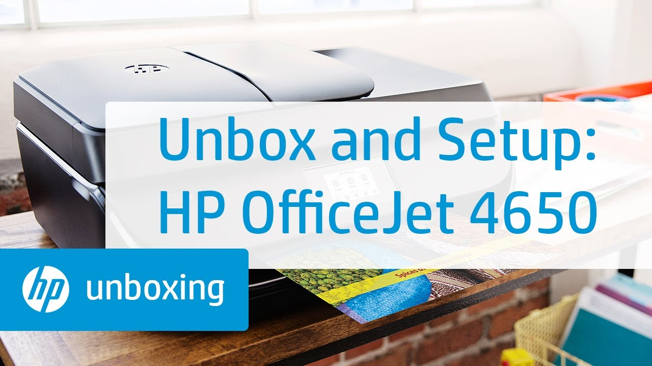 Unboxing Setting Up And Installing The Hp Officejet 4650